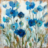 Abstracted Floral in Blue