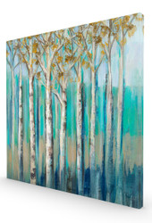 Birches at Dawn Stretched Canvas