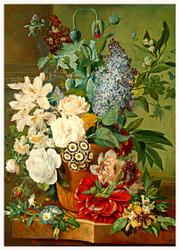 Flowers in a Terracotta Vase