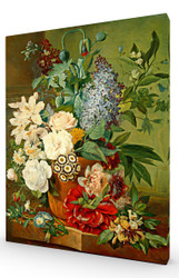 Flowers in a Terracotta Vase SC