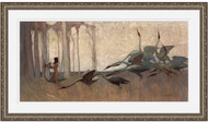 Spirit of the Plains by Sydney Long Silver Leaf Frame