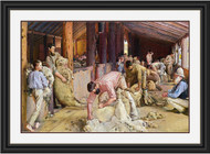 Shearing the Rams by Tom Roberts Black Gold Inlay Frame BGIWM