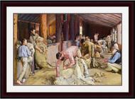 Shearing the Rams Mahogany Gold Inlay MGIWM Frame