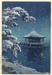 Floating Pavilion Katada in the Snow
