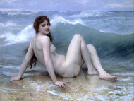 The Wave by William-Adolphe Bouguereau Premium Giclee Print