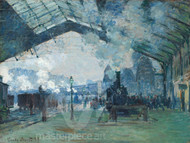 Arrival of the Normandy Train, Gare Saint-Lazare by Claude Monet Premium Giclee Print