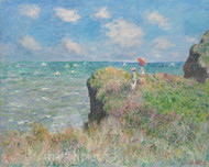 Cliff Walk at Pourville by Claude Monet Premium Giclee Print