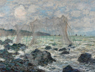 Fishing Nets at Pourville by Claude Monet Premium Giclee Print