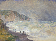 Heavy Sea at Pourville by Claude Monet Premium Giclee Print