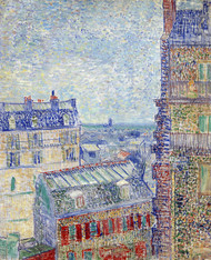 View from Theos Apartment by Vincent van Gogh Premium Giclee