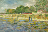Bank of the Seine by Vincent van Gogh Premium Giclee