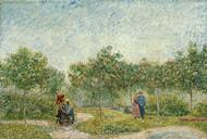 Garden in Montmarte with Lovers by Vincent van Gogh