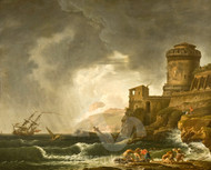 A Shipwreck by Johan Sevenbom Shipwreck Art Giclee Print