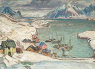 Scene from Lofoten by Anna Boberg Premium Giclee Print