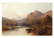 The Stream at Castle Campbell by Alfred de Bréanski Landscape