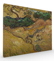Landscape with Rabbits by Vincent van Gogh Stretched Canvas