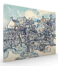 Old Vineyard with Peasant Woman Auvers by Vincent van Gogh Stretched Canvas