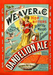 Weaver & Co. Dandelion Ale Beer Vintage Advertising