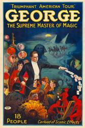 George the Supreme Master of Magic Vintage Advertising