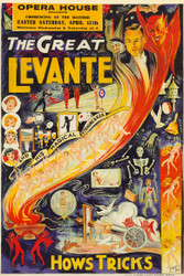 The Great Levante and his Magical Extravaganza Vintage Advertising