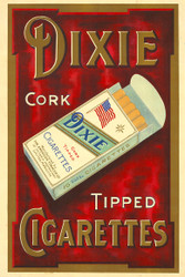 Dixie Cork Tipped Cigarettes Australian Vintage Advertising