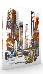 Wall Art, Abstract Cityscape I