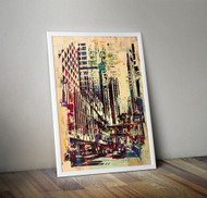 Wall Art Framed, Abstract Cityscape IV