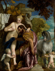Mars and Venus United by Love by Paolo Veronese Premium Giclee Print