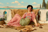 A Quiet Pet by John William Godward Premium Giclee
