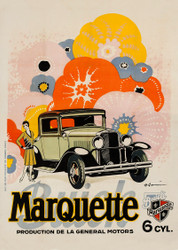 Marquette by Buick Advertising Poster c1920