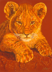 Lion Cub by Lori Watson African Art