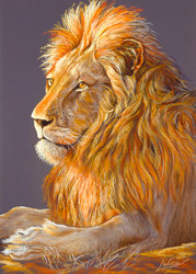 Lion by Lori Watson African Art