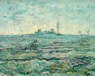 Vincent van Gogh Print Snow Covered Field with a Harrow After Millet