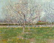 Vincent van Gogh Print Orchard in Blossom Plum Trees