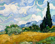 Vincent van Gogh Print Wheat Field with Cypresses