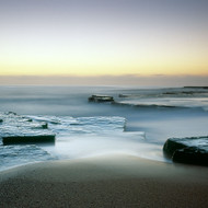 Seascape Print Misty Ledge by Jeff Grant
