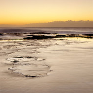 Seascape Print Narrabeen Abstract Yellow Sky  by Jeff Grant