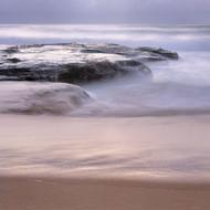 Seascape Print Turimetta Rock Wash by Jeff Grant
