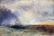 William Turner Print Stormy Sea Breaking on A Shore