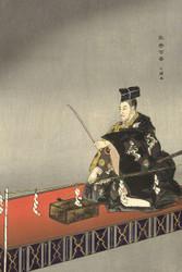 Japanese Print Actors in the Noh Theater Eboshiori by Tsukioka Kogyo 1926 3b Art