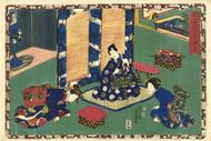 Japanese Print Chapter 21 Kunisada I by Watanabe Shoemon b Art