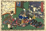 Japanese Print Chapter 23 Kunisada I by Watanabe Shoemon b Art