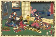 Japanese Print Chapter 53 Kunisada I by Murata Heiemon 1852 b Art