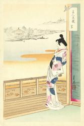 Japanese Print The Call of the Cuckoo by Takekawa Risaburo Art