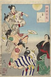 Japanese Print The Moon of the Bon Festival by Tsukioka Yoshitoshi 1887 Art