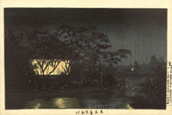Japanese Print The Komoro River at Tennoji by Kobayashi Kiyochika 1880 Art