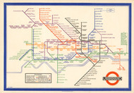 Map of Londons Underground Railways 1933