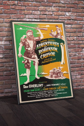 Adventures of Robinson Crusoe 1954 Movie Poster Framed
