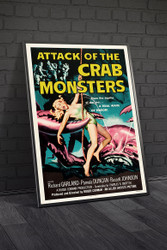 Attack of The Crab Monsters 1957 Movie Poster Framed