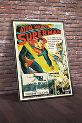 Atom Man vs Superman 1950 Movie Poster Framed